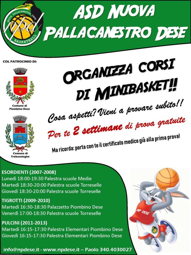 volantino minibasket 2018-2019